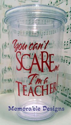 Vinyl ideas | Cricut - ideas vinyl / Teacher Tumbler Personalized Acrylic tumbler