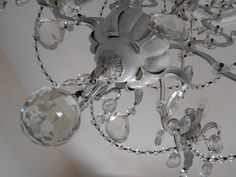 ARIANNA chandelier 1940s from Italy white antique by LorellaDia, $620.00