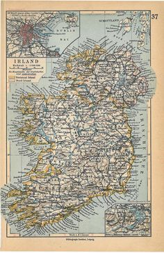 Old map of N Ireland. Thanks to the original pinner fof posting.