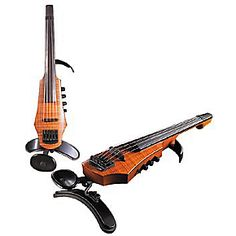 NS Design CR5 5-String Electric Violin  Amber Stain