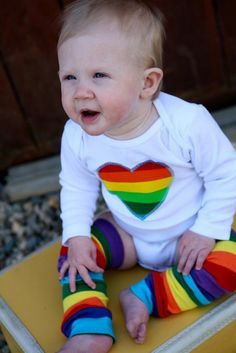 Rainbow heart one piece with leggings