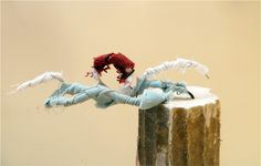 Swimming front crawl - Plinth People: Sculptural Self Portraits by the AccessArt Art Club http://www.accessart.org.uk