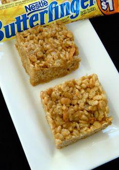 Butterfinger Rice Krispie Treats - 365 Days of Baking & More