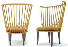 Nub-Chairs-by-Patricia-Urquiola-for-Andreu-World  Traditional Windsor chair backs given a modern twist!