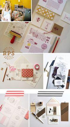 Designer Profile - Jackie Robinson of 42 Pressed on the RPS Blog! | #letterpress #design #wedding #invitations