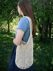 Ravelry: Loom Knit All-n-One Market/Beach Bag pattern by Faith Schmidt