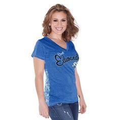 Carl Edwards Touch by Alyssa Milano Women's Audrey V-Neck T-Shirt - Royal Blue