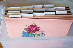 Homemaking File Box