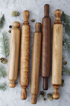 Antique rolling pins for the kitchen.