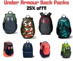 Amazon: Under Armour Backpack Sale - 25% off as low as $26! Under Armour Backpack, Back To School Deals, Backpacks For Sale, School Items, Online Deals, Amazon, Campaign, Bags