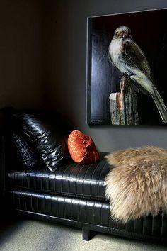 ♂ Masculine interior design dark wall home deco