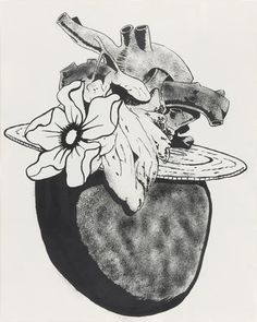 Mike Kelley (American, 1954–2012). Heart with Fancy Hat. 1989. Synthetic polymer paint on paper.