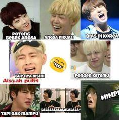 """meme meme funny … - """"Beyond the Scene"""" Memes Funny Faces, Bts Memes Hilarious, Funny Tweets, Boy Meme, Cartoon Jokes, Bts Quotes, K Idol, Album Bts, Foto Bts"""