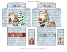 Digital Printable Christmas Tea Wrapper by CooperStation on Etsy