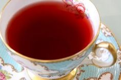 Rose hip tea. We have an abundant supply of rose hips, so this would be a good fruit to harvest. :)