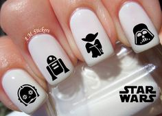 78 Star Wars Nail Decals by AMstickers on Etsy. Plus other awesome decals!
