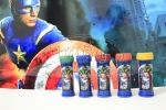 Lembrancinhas de aniversário do Rafael – Tema Vingadores – Rio de Janeiro: Bolinha de Sabão Personalizada + Batata Pringles Personalizada