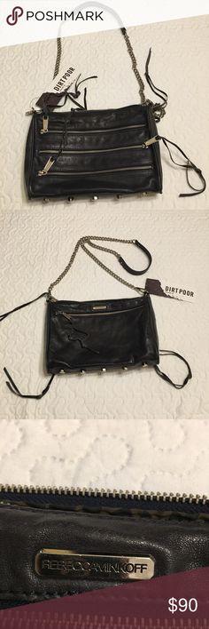 Rebecca Minkoff 5 ZIP Leather Crossbody Bag Rebecca Minkoff 5 ZIP Leather Crossbody Bag Black. Unused Rebecca Minkoff Bags Crossbody Bags