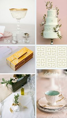 Grecian wedding decor details ~ wedding inspiration