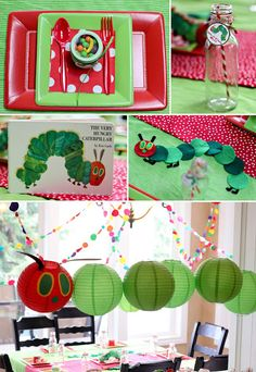 24 very hungry caterpillar party ideas- 24 sehr hungrige Raupe-Partei-Ideen 24 very hungry caterpillar party ideas - Baby 1st Birthday, First Birthday Parties, Birthday Party Themes, Birthday Ideas, Birthday Banners, Birthday Invitations, Baby Showers Juegos, Hungry Caterpillar Party, Chenille