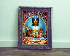 Buddha Photo Print by ImagesByTiffyMoon Buddhism, Red And Blue, Zen, Spirituality, Statue, Wall Art, Frame, Photography, Etsy