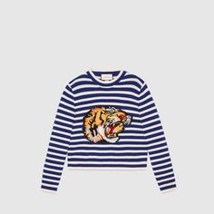6fc00f0fbc8 Striped wool knit top Cardigan Sweaters For Women