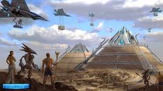 Extraordinary Documentary tells us how Ancient Aliens helped build the Pyramids of Egypt Ancient Aliens, Ancient Egypt History, Stargate, Coast To Coast Am, Pyramids Of Giza, Bizarre, Sistema Solar, Egyptian Art, Environmental Art