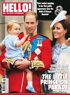 Prince William with wife Duchess Catherine and son George on Hello! (22 June 2015)