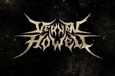 Vernon Howell - Black // Death Metal logos by Alice Bramucci, via Behance