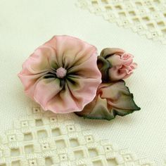 French wire ribbon flower