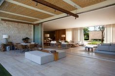 Home tour - Constance Zahn Living Roon, Outdoor Rooms, Outdoor Decor, Decoration, Terrace, Architecture Design, Pergola, New Homes, House Design