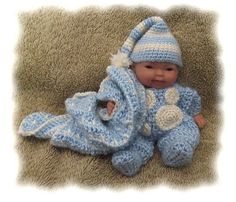 Ravelry: Sleepy Time Pajamas for 5 inch Berenguer Doll pattern by Amy Carrico