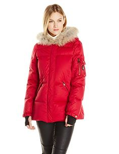 Pendleton Heritage Womens Hooded Down Coat Red Medium >>> More info could be found at the image url.