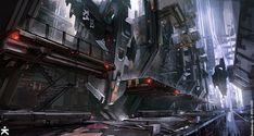ArtStation - Killzone Helghast Hangar, Mike Hill