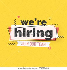 We are Hiring Poster or Banner Design. Job Vacancy Advertisement Concept on yell - Advertising Job - Ideas of Advertising Job - We are Hiring Poster or Banner Design. Job Vacancy Advertisement Concept on yellow background. Job Advertisement, Job Ads, Creative Poster Design, Creative Posters, Poster Designs, Advertising And Promotion, Advertising Design, Hiring Poster, Recruitment Ads