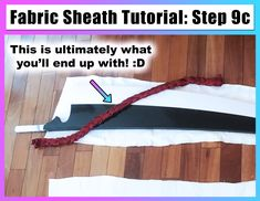 Looking to make your very own fabric sheath so you can easily carry around your sword while in cosplay? Then this is the tutorial for you! Based off of BLEACH's Ichigo Kurosaki's Default attire and his Shikai sword, this tutorial can be adapted to suit any sword shape to perfectly fit your sword where it's most convenient - on your back, hands free! Cosplay Sewing Tutorial by Cosplayer, Photographer, Blogger, and Writer SkywingKnights (Skywing Knights)