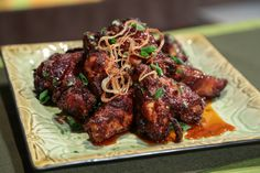 the chew | Recipe  | Mario Batali's Deep Fried Honey Glazed Wings