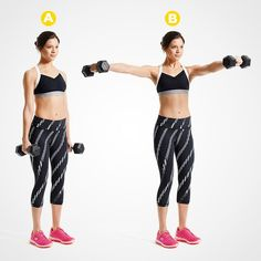 The Best Exercises To Get Sexy Arms - Fit Girl's Diary Fun Moves, Workouts For Teens, Dumbbell Workout, Barre Workout, Fat Workout, Cardio, Toned Arms, Workout For Beginners, Upper Body