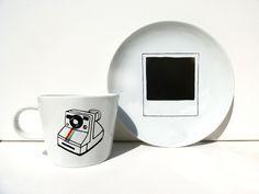 tasse et assiete polaroid sur DaWanda.com
