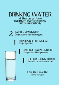 Water! Stay hydrated.