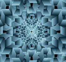 abstract box blue colorful swirl cubes background vector