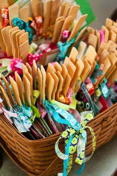 Tip of the Day: Programs printed on paddles work triple time for a lovely ceremony: They add a pop of color to your décor, inform guests about the order of events and help them stay cool on a hot summer day. Mix up the colors of your program paddles for a fun and bold look.
