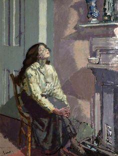 Suspense / Walter Richard Sickert / c. 1916 / oil on canvas.Walter Sickert was a suspect for the jack the ripper killings. Art Nouveau, Art Deco, Canvas Art Prints, Fine Art Prints, Framed Prints, Poster Prints, Walter Sickert, Thing 1, Pastel