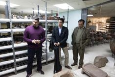 Thousands of artifacts from Father Crespi's collection in the storage vaults of the Central Bank of Ecuador.