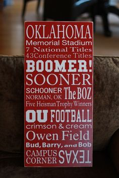 Oklahoma University School Spirit
