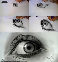 Drawing Eyes MFA - Realistic Drawings - Eyes - Pencil and Graphite - Fabriano Paper Realistic Eye Drawing, Drawing Eyes, Painting & Drawing, Pencil Art, Pencil Drawings, Art Drawings, Graphite Drawings, Drawing Projects, Eye Art