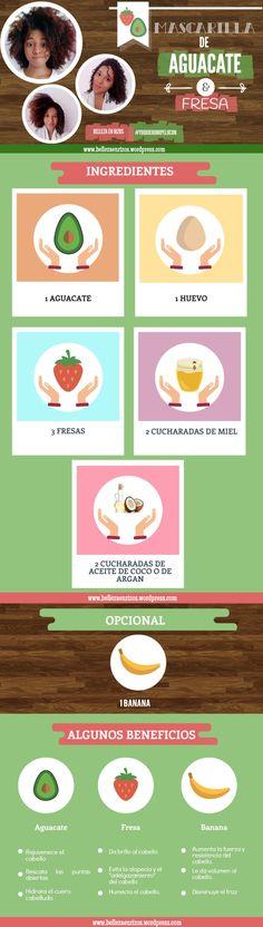 Mascarilla de aguacate y fresa para hidratar. ¿Tienes el cabello seco, sin…