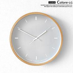 直径20cmモダンテイストやナチュラルテイストのお部屋に合わせられるシンプルで洗練された掛け時計置時計にもなりますCOLOREブルー色