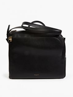 Wooyoungmi Black Leather Messenger Bag