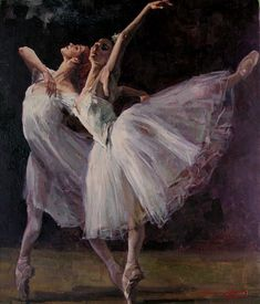 """Christopher Zhang (On my board """"Dancing - in art. Ballerina Painting, Ballerina Art, Ballet Art, Ballet Dancers, Ballerinas, Dance Paintings, Music Painting, Painting Art, Ballet Drawings"""